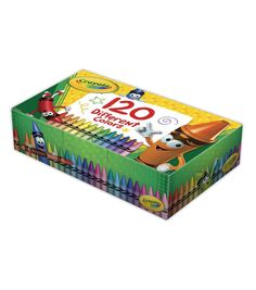 Crayola® Crayons - Hinged-Lid Box of 120 Crayon Crafts, Foam Crafts, Cute School Supplies, Craft Supplies, Art For Kids, Crafts For Kids, Kid Art, Back To School Stationery, Crayon Box