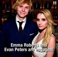 Evan Peters & Emma Roberts are engaged. Noooooooo!
