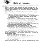 Here are a few useful resources for parents that I hand out Open House evenings.  The handouts explain how parents can help with reading at home, e...