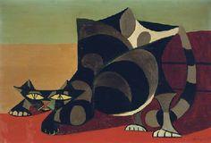Óscar Domínguez (1906-1958) | Le chat | Impressionist & Modern Art ...