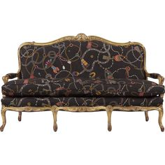 French Louis XV Antique Settee Canape Sofa, Century from sillafineantiques on Ruby Lane Bergere Chair, Settee Sofa, Couch, Traditional Sofa, Antique Furniture, Love Seat, Furniture Design, Upholstery, House Design
