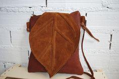 Bolsos de cuero - bolso hoja mediano, de la coleccion bosque - hecho a mano por de-cuir en DaWanda