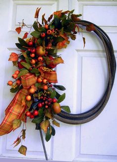 Etsy listing at http://www.etsy.com/listing/100628837/fall-wreath-rope-wreath-front-door