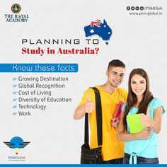Planning to Study in Australia?  Know these facts  Growing Destination Global Recognition Cost of Living Diversity of Education Technology Work  #StudyinAustralia #SpokenEnglish  #PTECoaching  #StudentVisainAustralia #WorkVisainAustralia  w:http://www.psm-global.in/   M:9724824944