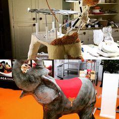 """The barebones of it.  #cake #elephant"""