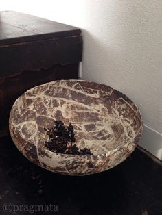 """Pragmata Alps lodge"" Ceramic large bowl by Akihiro Nikaido 「プラグマタアルプスのロッジ」 大ボウル、二階堂明弘 #pragmata"