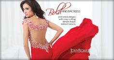 Going Bold and Backless this year lets just say be dramatic with @Tony Bowls - Prom Dress Designer for #prom #ipaprom