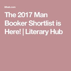 The 2017 Man Booker