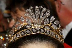 The Steel Cut Tiara belonging to Her Royal Highness, The Crown Princess of Sweden, Duchess Victoria of Vastergotland