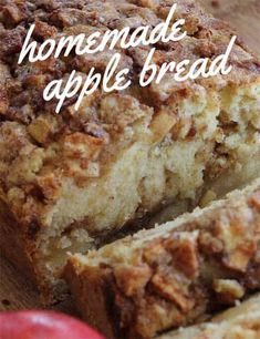 Moist And Delicious Cinnamon Apple Bread Recipe This recipe is easy to make and tastes even better if you add hot custard.Easy to make and stays moist for days. Give this recipe a go. Moist Apple Bread Recipe, Apple Cinnamon Bread, Apple Recipes Easy, Apple Dessert Recipes, Easy Bread Recipes, Pumpkin Recipes, Banana Apple Recipes, Holiday Recipes, Coconut Bread Recipe