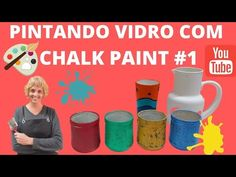Chalk Paint - Pintando Vidro - Aula 1 - YouTube Diy Videos, Chalk Paint, Youtube, It Works, Painting, Glass, Painting Art, Paintings, Painted Canvas