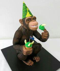 Monkey Cake Art