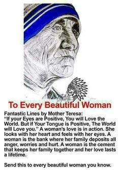 Words from Mother Teresa.