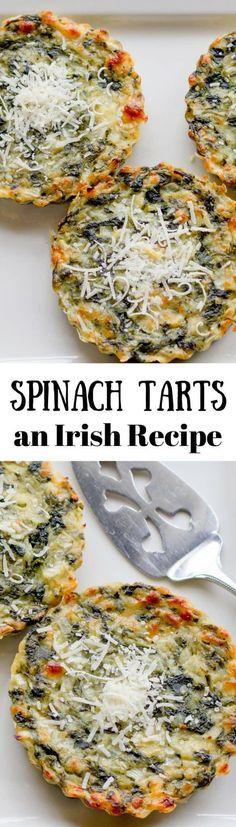 Spinach Tarts, an Irish Recipe - Saving Room for Dessert