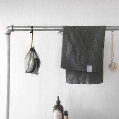Our washed linen styled beautifully by @willowstyleco. We stock linen both for the bathroom and the kitchen.  #washedlinen #willowstyleco #kitchen #industrial by stwotwenty