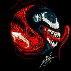 enjoy oh venom and carnage belong to Marvel comics. Marvel Comics, Marvel Villains, Marvel Art, Marvel Heroes, Spiderman Tattoo, Venom Spiderman, Marvel Venom, Batman, Ying Y Yang