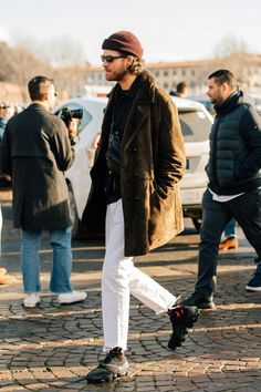 The men who attend Pitti Uomo, the biannual Florentine trade show, dress for the occasion. Here are the guys catching our eye right now.