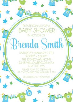 Boys Clothesline Baby Shower Invitations Clothes Line, Baby Shower Themes, Background Patterns, White Envelopes, Baby Shower Invitations, Baby Showers, Special Events, Rsvp, Card Stock