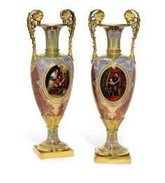 A PAIR OF SEVRES ORMOLU-MOUNTED OVIFORM VASES, 1845.