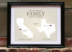Long Distance Family Going Away Gift For Daughter Aunt Wedding