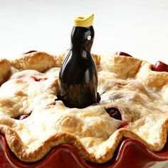 "Pie Bird ~ like the nursery rhyme theme: ""4 & 20 black birds baked in a pie"""