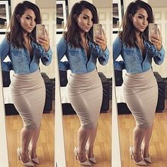 Great style. Nice to wear after work to meet the girls or a nice Friday wear.