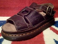 Dr Martens Size 9 UK Brown Bark Ring Strap Sandals Open Toe Leather Made England | eBay FREE U.S. SHIPPING!!!