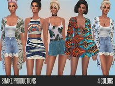 Festival outfits Found in TSR Category 'Sims 4 Female Clothing Sets'