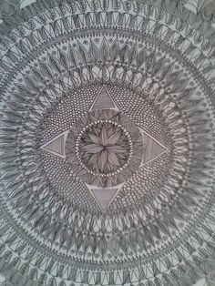 Detail: Mandala J&CR by Filipa Costa. Pen on paper 50x50cm More informations: surfleca@sapo.pt Photo by: Filipa Costa Surf Leça_Surf Shop_Art Gallery_Leça da Palmeira_Portugal.