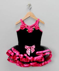Take a look at this Black & Hot Pink Skirted Leotard - Toddler & Girls by Popatu by Posh on #zulily today!