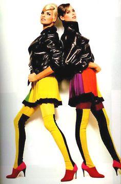 Linda and Christy for Gianni Versace, 1991