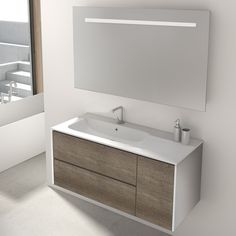 Found it at Wayfair.co.uk - Mosman 100cm Wall Mounted Vanity Unit With Mirror and Storage Cabinet