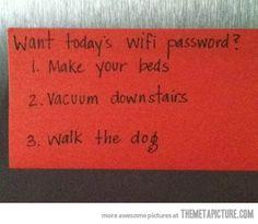 Great idea!  Matt should do this to me, lol!