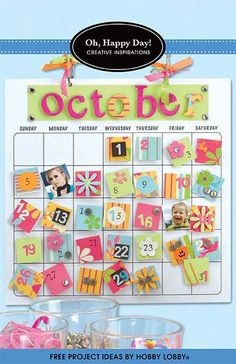 Everyday is a new day with this adorable magnetic calendar! This project is sure to keep you smiling day after day and month after month.