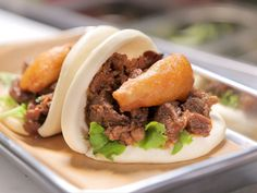 Kalbi Bun recipe from The Bun Shop, Los Angeles on Diners, Drive-Ins and Dives via Food Network