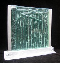 "kiln carving projects | Ancestors"" – Recycled window glass sculpture glasswithapast"