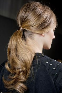 Slick ponytail with curls A/W 13-14