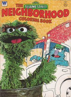 Vintage Sesame Street coloring book (1976)