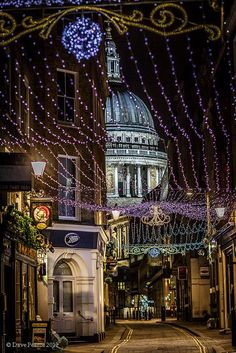 Festive street in the city - London