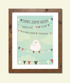 Personalized nursery art print  with birth by HenryJamesPaperGoods, $28.00
