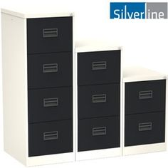Silverline Two Tone Midi Filing Cabinets - High Quality Silverline Two Tone Midi Filing Cabinets. Now offered in a range of two tone contemporary colours. FIRA certified, Free UK mainland delivery on Silverline Two Tone Midi Filing Cabinets. Filing Cabinets, Contemporary, Storage, Metal, Furniture, Home Decor, Purse Storage, Decoration Home, Room Decor