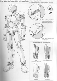 Figure Drawing Models Drawing the Fashion Figure Fashion Figures Robots Drawing, How To Draw Robots, Robot Sketch, Figure Drawing Models, Arte Robot, Arte Cyberpunk, Cool Robots, Robot Concept Art, Robot Design