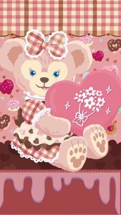 Disney Phone Wallpaper, Friends Wallpaper, Bear Wallpaper, Kawaii Wallpaper, Iphone Wallpaper, Duffy The Disney Bear, Disney Love, Disney Art, Disney Cookies