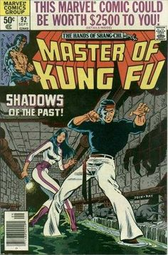 Master of Kung Fu # 92 by Mike Zeck & Gene Day - Marvel Marvel Comics Art, Marvel Comic Books, Comic Books Art, Comic Art, Book Cover Art, Comic Book Covers, Comic Book Makeup, Marvel Comic Character, Marvel Characters
