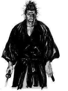 Miyamoto Musashi by Takehiko Inoue Manga Anime, Comic Manga, Manga Comics, Anime Art, Manga Artist, Comic Artist, Manga Vagabond, Inoue Takehiko, Character Art