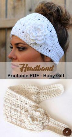 Most current Photos Crochet headband ear warmer Concepts Make a cozy headband. Beau Crochet, Crochet Headband Free, Bonnet Crochet, Crochet Beanie, Love Crochet, Knit Crochet, Knit Headband, Crochet Flowers, Fabric Flowers