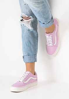 Vans OLD SKOOL - Trainers - winsome orchid/blanc for £50.00 (29/07/16) with free delivery at Zalando