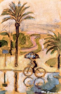 A Bicycle in the Rain Kees Van Dongen - 1947