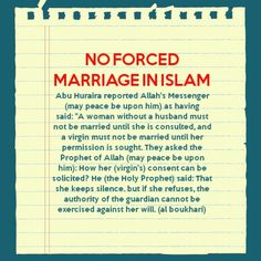 forced marriage are not allowed in islam - Mariage Forc Islam