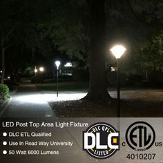 978da8fc443 LED Post Top Area Light fixture application project Use in Road way Campus  Road Columbia International University